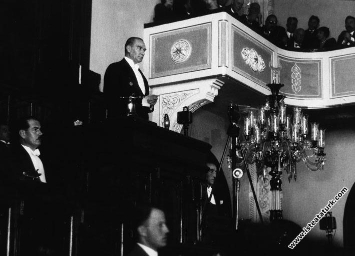TBMM 3. Dönem 3. Yasama Yılını Açış Konuşması 01.11.1929