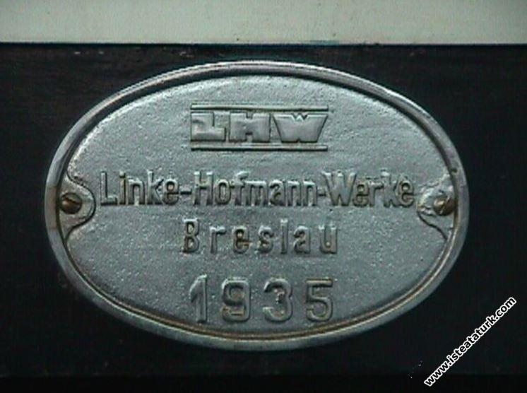 Vagonun fabrika etiketi