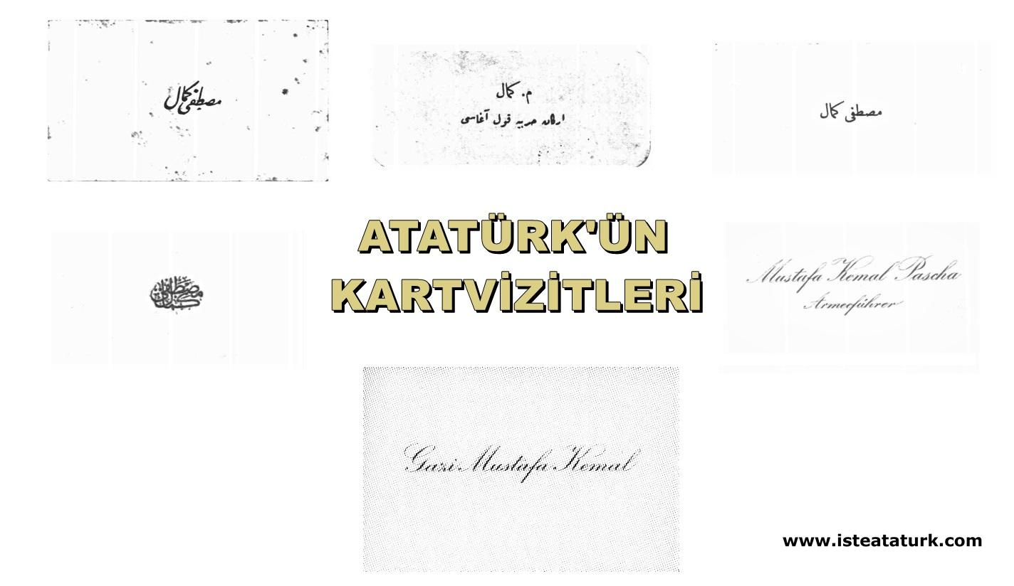 Atatürk'ün Kullandığı Kartvizitler