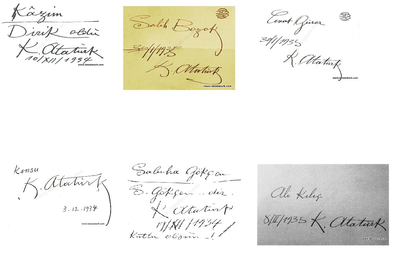 Atatürk'ün Verdiği İsimler ve Soyadları