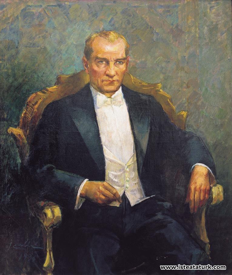 Ibrahim çallı Atatürk Portresi 1935 Işte Atatürk Atatürk