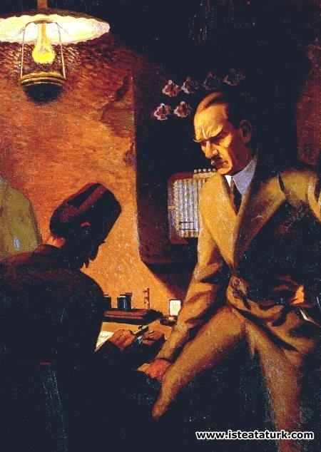 Şeref Akdik, Atatürk Telgraf Başında, 1934