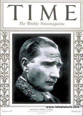 Time Dergisi'nin 21 Şubat 1927 tarihli sayısının kapağında. (21 Şubat 1927)