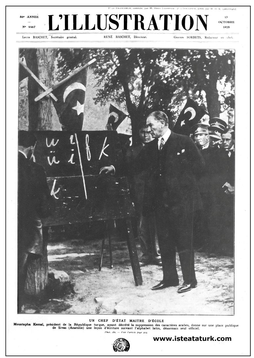 L'ıllustration Dergisinin 13 Ekim 1928 tarihli sayısının kapağı. (13 Ekim 1928)