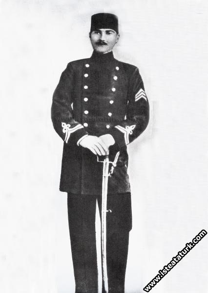 Harp Okulu öğrencisi Mustafa Kemal. (1899 - 1902)