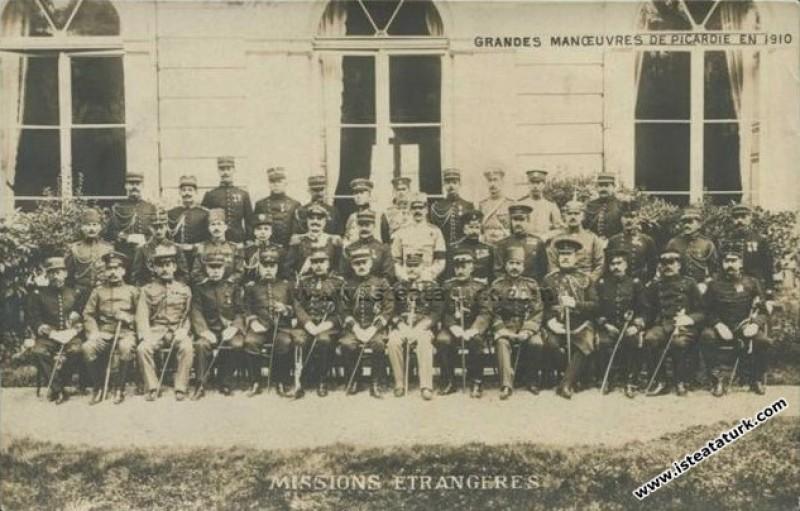 Picardie Manevraları'nda Osmanlı Ordusu'nu temsile...