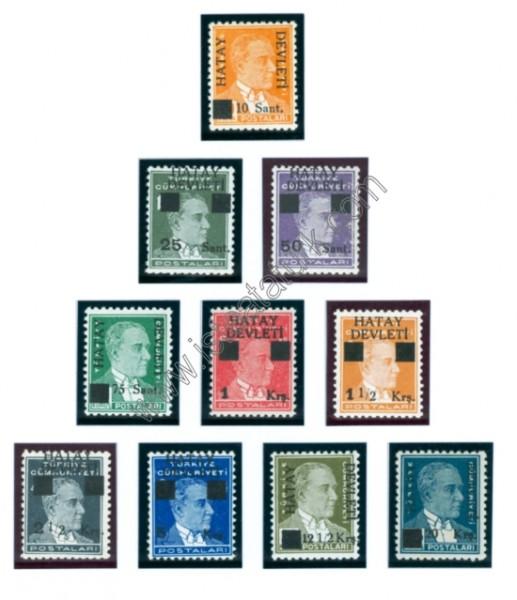 Hatay Devleti Pulları - Sürşajlı Posta Pulları I 1939