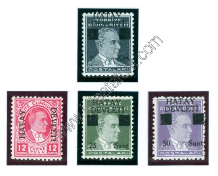 Hatay Devleti Pulları - Sürşarjlı Posta Pulları II 1939