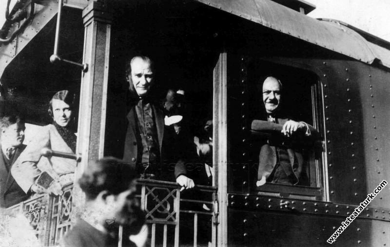 Mustafa Kemal Büyük Yurt Gezisine çıkışı, Ankara'd...