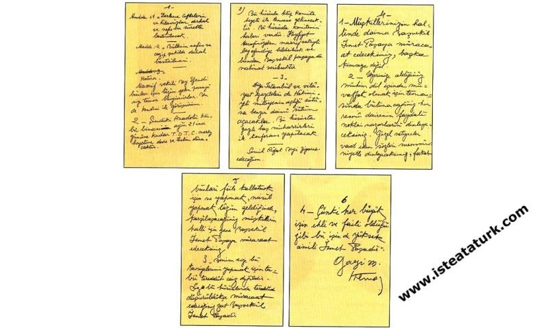 Gazi Mustafa Kemal'in Türk Dili Tetkik Cemiyeti'nin İhtiyaç ve Çalışmalarına İlişkin Buyrukları