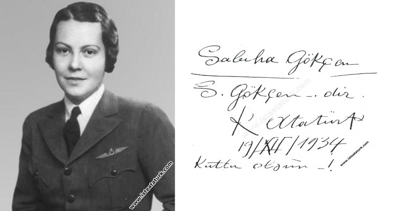 Sabiha Gökçen'in ''Gökçen'' Soyadını Alması (19.12.1934)