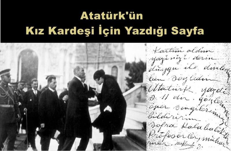 Atatürk'ün Kız Kardeşi İçin Yazdığı Sayfa