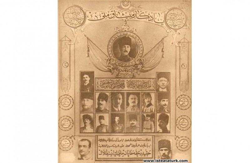 Milletin ve Ordunun moralini yükseltmek amacıyla düzenlenen Misak-ı Milli tablosu. (1922)