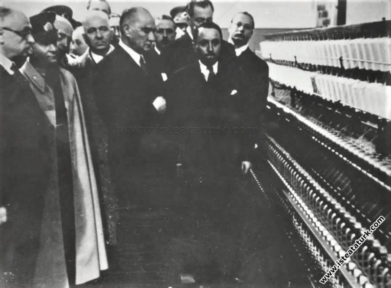 Atatürk Bursa Sümerbank Merinos Fabrikası'nı açtık...