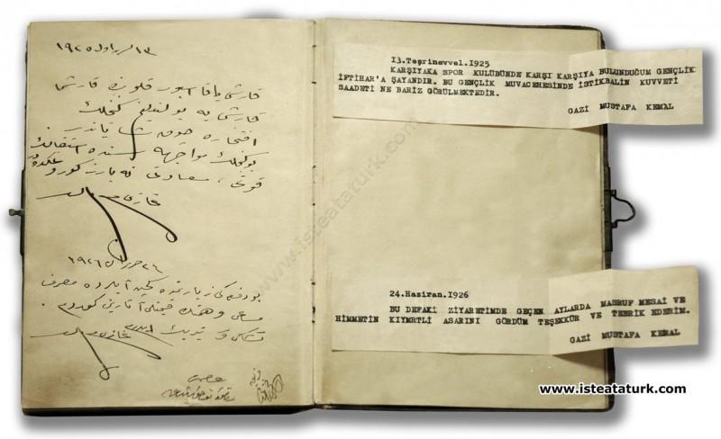 Mustafa Kemal Paşa'nın Karşıyaka Spor Kulübü'nü Ziyareti. (13.10.1925)
