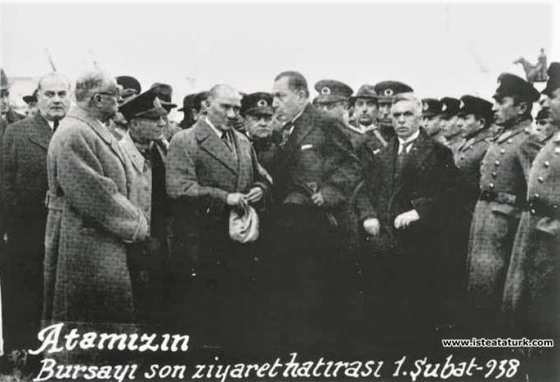 Atatürk'ün Bursa'ya gelişi ve ziyareti. (01.02.193...