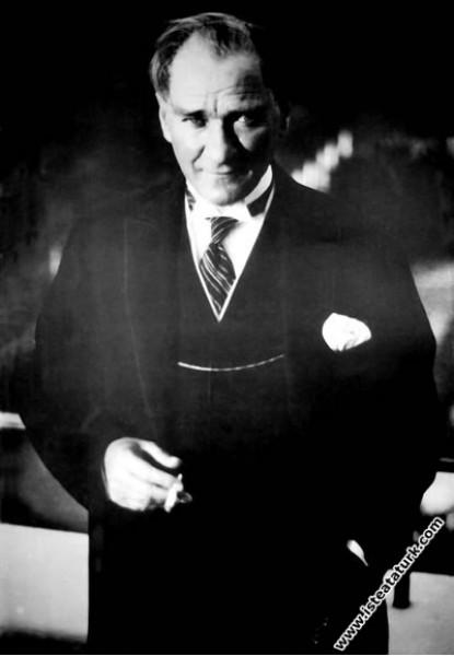 Mustafa Kemal Atatürk'ün Marmara Köşkü'nde çekilen...