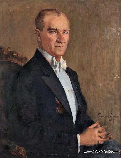 Feyhaman Duran, Atatürk  portresi, 1937