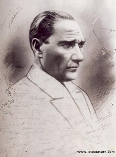 Ratip Tahir Burak, Atatürk Çizimi, 1925