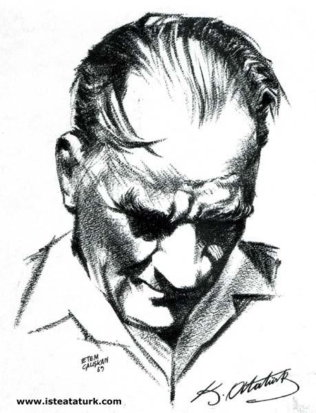 Etem Çalışkan, Atatürk Çizimi, 1969