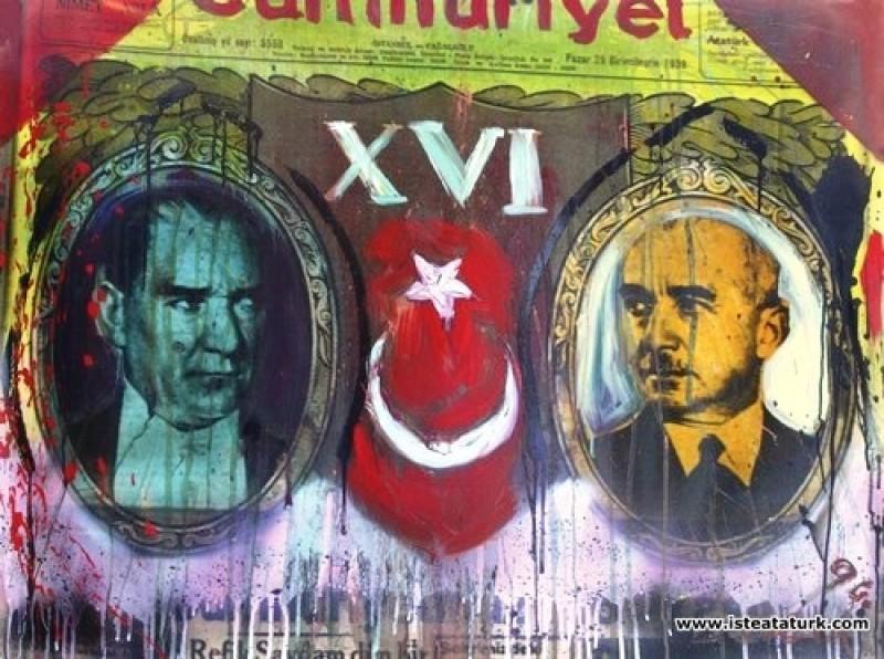 Bedri Baykam, Atatürk ve İnönü, 1994