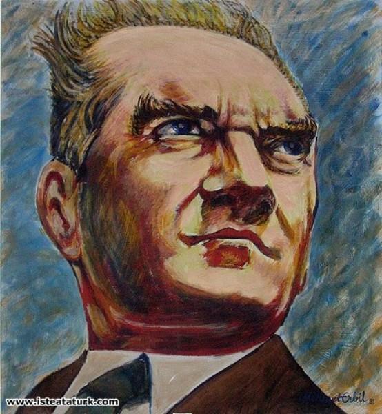 Mehmet Erbil, Atatürk Portresi, Bakış, 1989