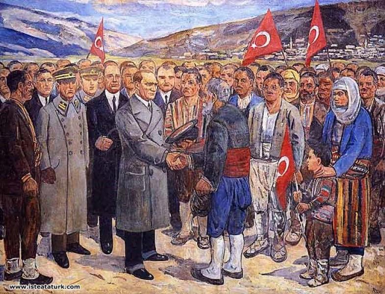Mehmet Rûhi Arel, Atatürk Köylülerle