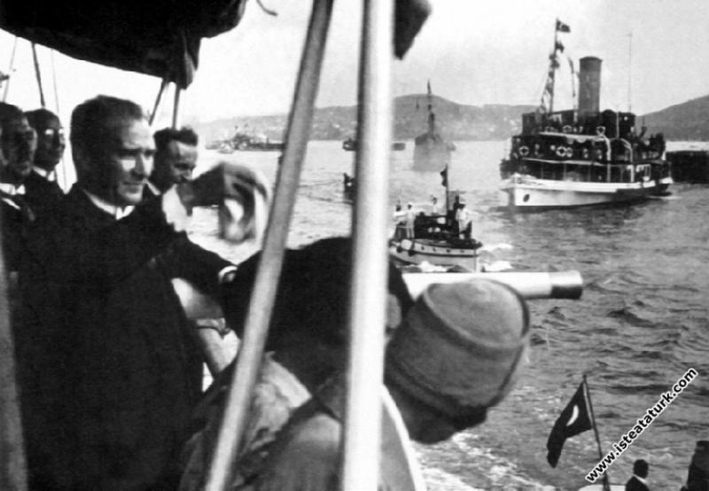 Mustafa Kemal Atatürk Ertuğrul Yatı ile İstanbul'a...