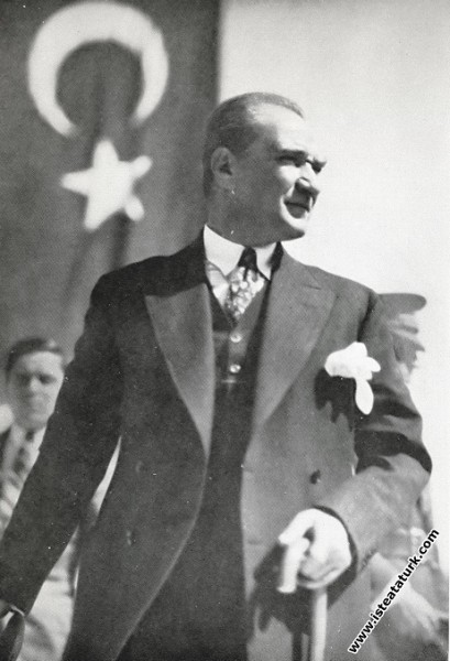 Mustafa Kemal Atatürk'ün Kayseri seyahati dönüşü T...