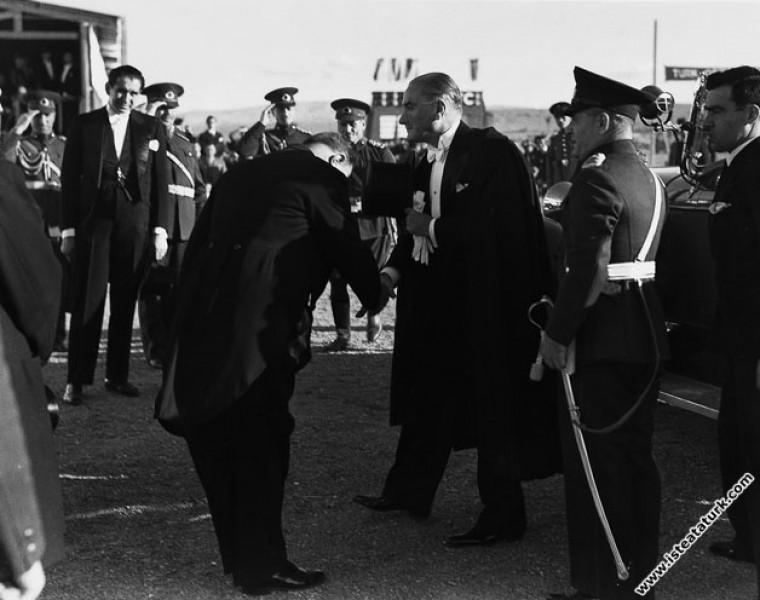 Mustafa Kemal Atatürk'ün Cumhuriyet Bayramı töreni...