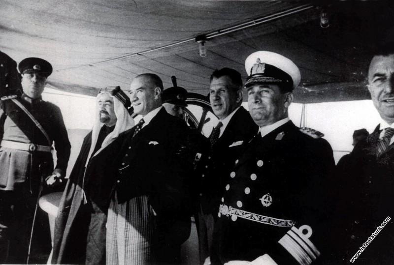 Mustafa Kemal Atatürk Ürdün Kralı Abdullah ile Ert...