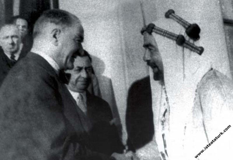 Mustafa Kemal Atatürk'ün Ürdün Kralı Abdullah'ı Be...