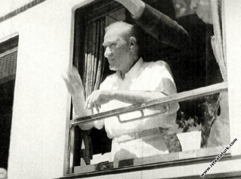 Mustafa Kemal Atatürk Trakya Manevraları sırasında...