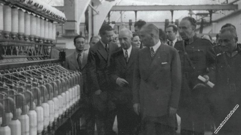 Atatürk, Sümerbank Nazilli Basma Fabrikasının açıl...